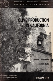 Cover of: Olive production in California
