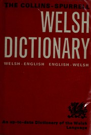 Cover of: Collins-Spurrell Welsh dictionary |