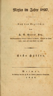 Cover of: Mexico im jahre 1827
