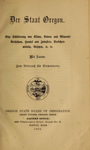 Cover of: Der staat Oregon
