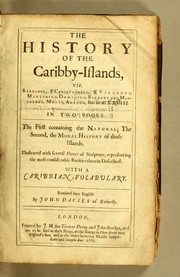 Cover of: The history of the Caribby-Islands
