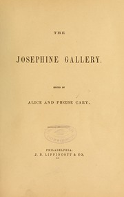 Cover of: The Josephine gallery