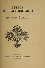 Cover of: Lyrics of brotherhood | Burton, Richard