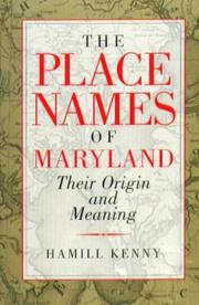 Cover of: The Place Names Of Maryland