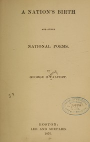 Cover of: A nation's birth and other national poems