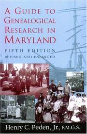 Cover of: A guide to genealogical research in Maryland