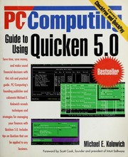 Cover of: PC/computing guide to Quicken 5.0 | Michael E. Kolowich
