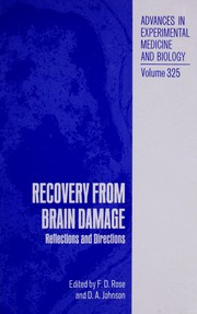 Cover of: Recovery from Brain Damage (Advances in Experimental Medicine and Biology) |