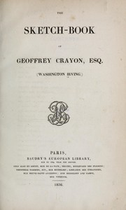 Cover of: The sketch-book of Geoffrey Crayon, Esq