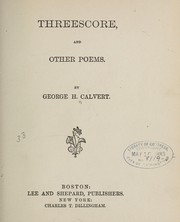 Cover of: Threescore, and other poems