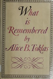 Cover of: What is remembered