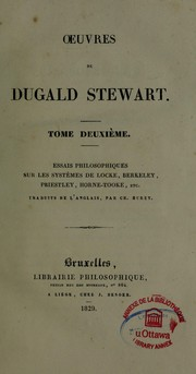Cover of: Oeuvre de Stewart Dugald