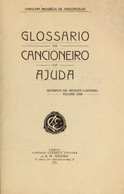 Cover of: Glossario do Cancioneiro da Ajuda