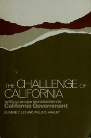 Cover of: The challenge of California