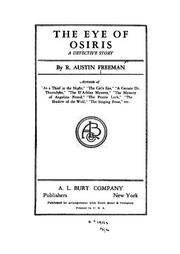 Cover of: The Eye of Osiris: A Detective Story