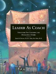 Cover of: Leader as coach | David B. Peterson
