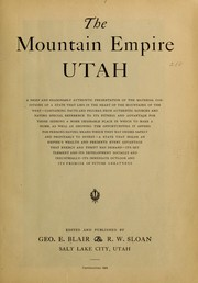 Cover of: The mountain empire Utah