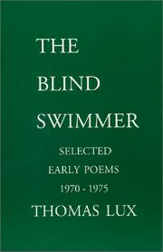 Cover of: The Blind Swimmer | Thomas Lux