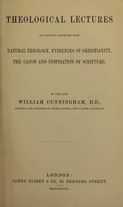 Cover of: Theological lectures