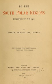 Cover of: To the South Polar Regions: Expedition of 1898-1900