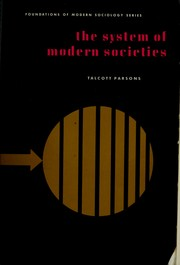 Cover of: The system of modern societies