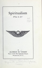 Cover of: Spiritualism | Alfred Howe Terry