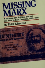 Cover of: Missing Marx