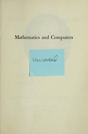 Cover of: Mathematics and computers