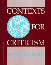 Cover of: Contexts for criticism |