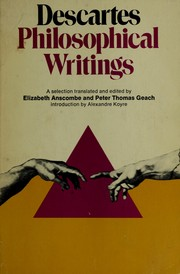 Cover of: Philosophical writings: a selection