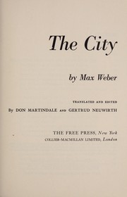 Cover of: The city. | Max Weber