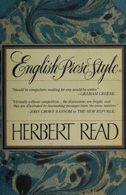 English prose style by Read, Herbert Edward Sir