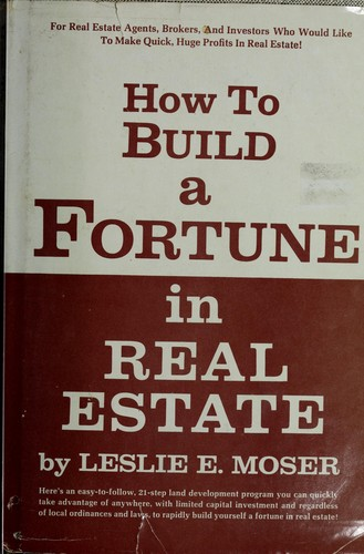 How To Make A Real Book Cover : How to build a fortune in real estate edition