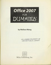Cover of: Office 2007 for dummies