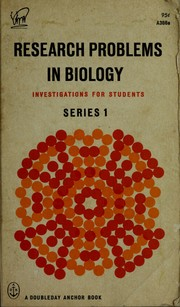 Cover of: Research problems in biology