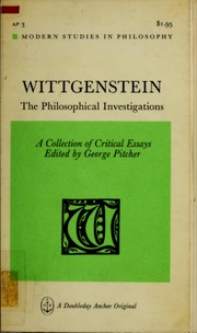 Wittgenstein by George Pitcher