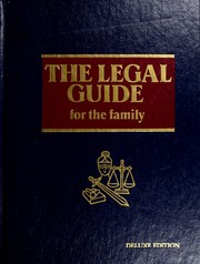 Cover of: The legal guide for the family | Donald L. Very