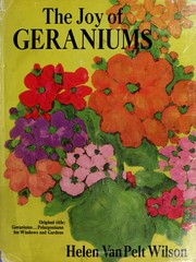 Cover of: The joy of geraniums