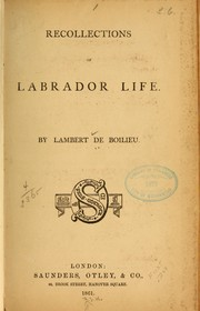 Cover of: Recollections of Labrador life