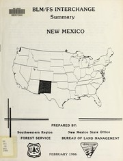 Cover of: BLM/FS interchange | United States. Bureau of Land Management. New Mexico State Office