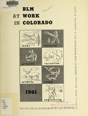 Cover of: BLM at work in Colorado
