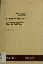 Cover of: Bridge or Barrier?