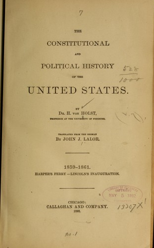 The constitutional and political history of the United States.