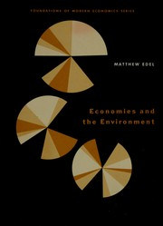 Cover of: Economies and the environment