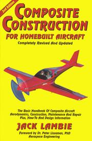 Cover of: Composite Construction for Homebuilt Aircraft | Jack Lambie