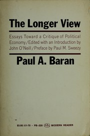 Cover of: The longer view