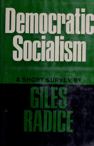 Democratic socialism by Giles Radice
