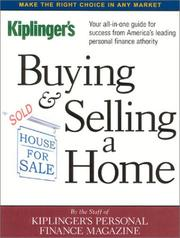 Cover of: Buying & Selling a Home