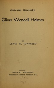 Cover of: Oliver Wendell Holmes