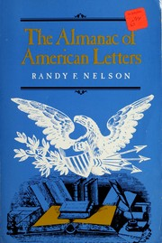 Cover of: The almanac of American letters